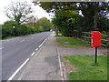 TG2118 : A140 Cromer Road, Hainford & Cromer Road Postbox by Adrian Cable