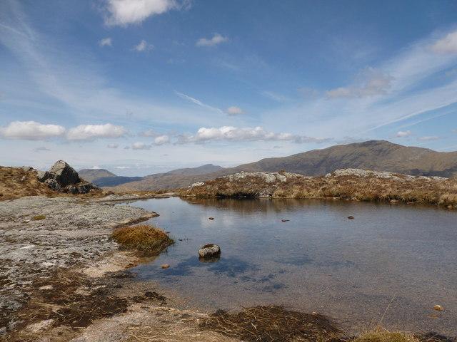 Mountain pool, Meall nan Gobhar