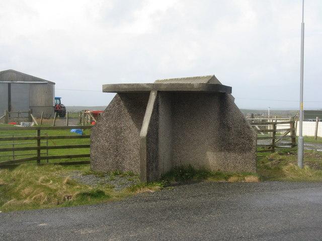 Lewisian bus shelter