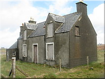 NB5263 : Disused house at Nis by M J Richardson