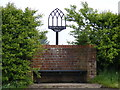 TM2993 : Bedingham Village sign by Adrian Cable