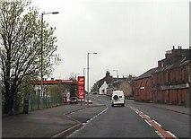 NS6113 : Garage on Castle, New Cumnock by John Firth