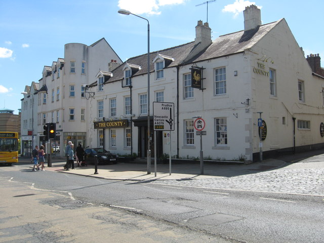The County Hotel In Hexham C James Denham Geograph Britain And