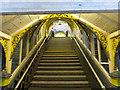 SJ3287 : Stairway at Green Lane Station, Birkenhead by John S Turner