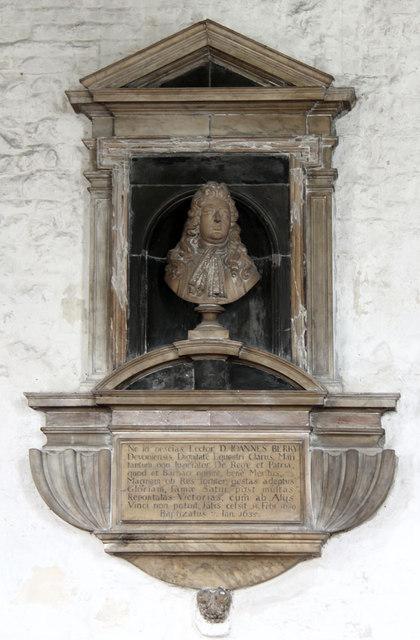 St Dunstan & All Saints, Stepney - Wall monument
