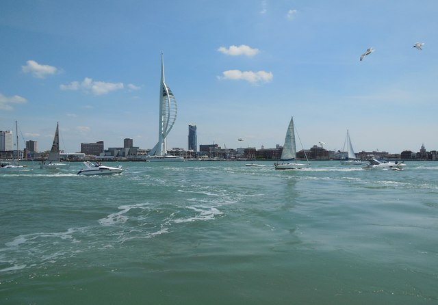 Boats in Portsmouth Harbour
