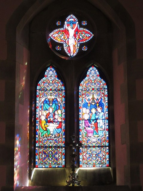 St. James's Church, Hunstanworth - stained glass window