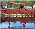 NN0976 : Reflections in Corpach locks by Steve  Fareham