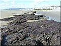 SN6089 : Ancient peat on Borth Beach by Penny Mayes