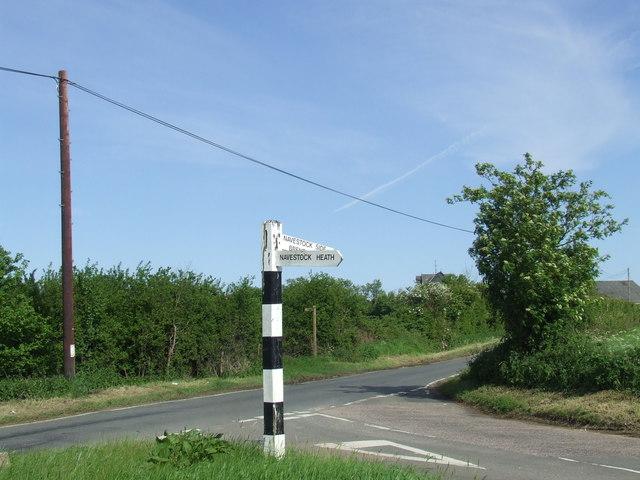 Road junction near Navestock Side, Essex