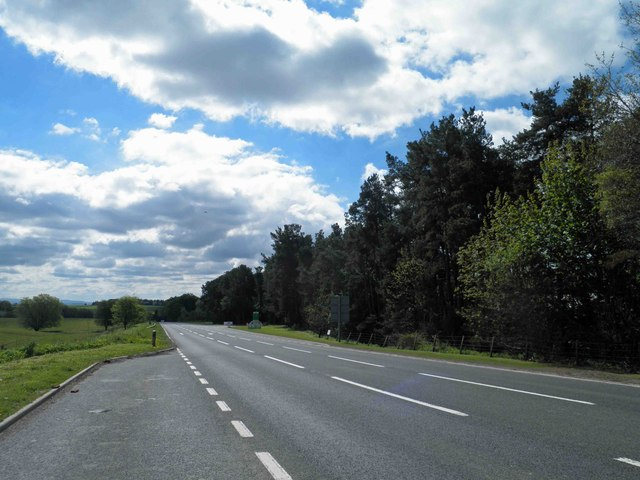 Speed camera ahead on the A68 near the entrance to Lilliardsedge Park