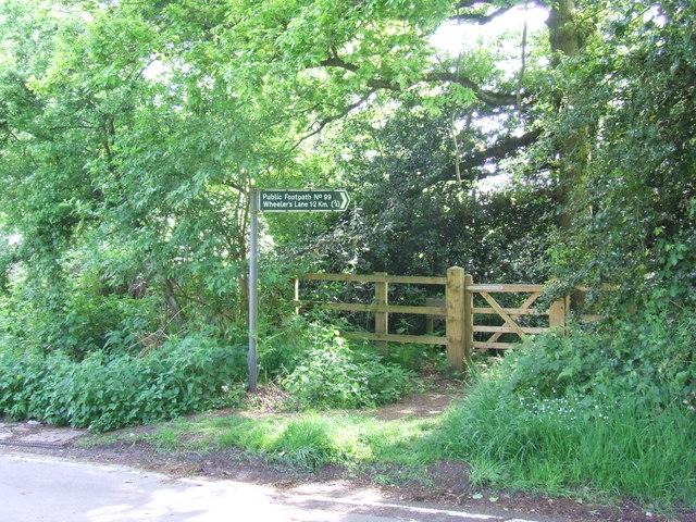 Public footpath near Bentley, Essex