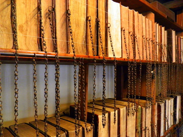 Wimborne Minster: the chained library