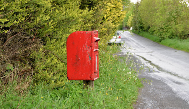 Letter box, Ashfield near Dromore