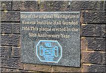 J1055 : Women's Institute plaque, Waringstown by Albert Bridge
