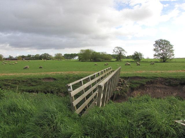 Footbridge over Lydiate Brook