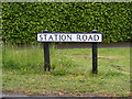 TM1136 : Station Road sign by Adrian Cable