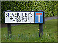 TM1136 : Silver Leys sign by Adrian Cable