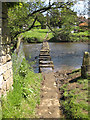 NZ7607 : Stepping stones in the River Esk by Pauline E