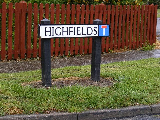 Highfields sign