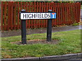 TM1136 : Highfields sign by Adrian Cable