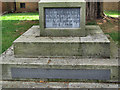 TL2518 : Front Inscriptions, War Memorial, Woolmer Green by Chris Reynolds