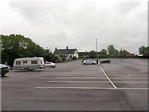 SJ2207 : Across Berriew Street car park towards Oldford by John Firth
