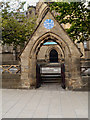 SE2933 : Stone Lychgate, Mill Hill Chapel by David Dixon