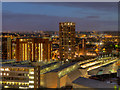 SE2933 : Leeds at Night by David Dixon