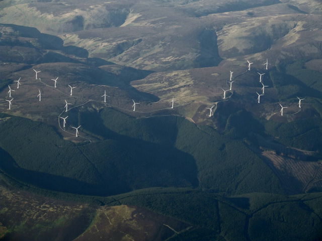 Bowbeat wind farm from the air