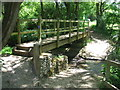 TQ3416 : Footbridge over a stream, near Plumpton by Malc McDonald
