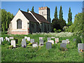 TL6244 : Shudy Camps church and churchyard by John Sutton