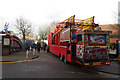 SP9211 : The Ferris Wheel enters the Library Car Park, Tring Carnival by Chris Reynolds