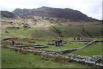 NY2101 : Roman Fort and Harter Fell by Anne Burgess