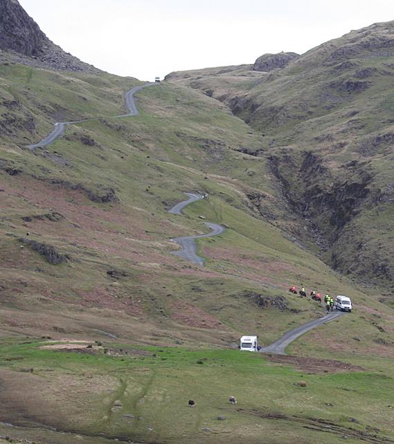 Horses on the Hard Knott Pass