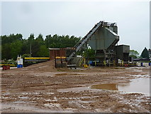 SK1814 : Readymix concrete plant in Alrewas quarry by Richard Law
