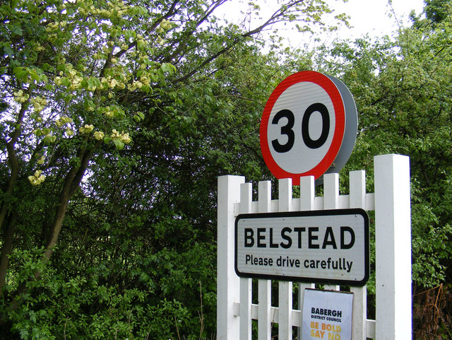 Belstead sign on The Street