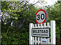 TM1340 : Belstead sign on The Street by Adrian Cable