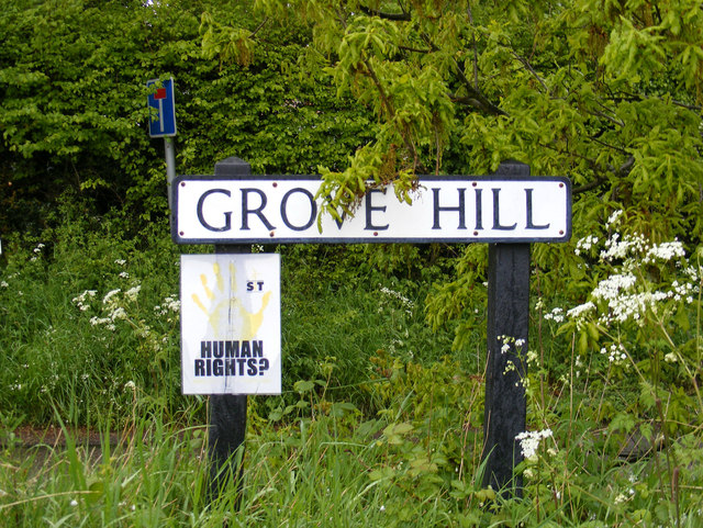 Grove Hill sign