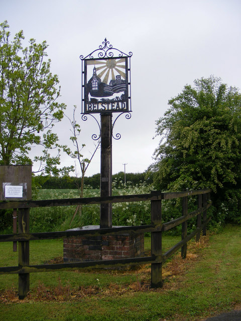 Belstead Village sign