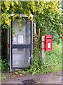 TM1540 : Telephone Box & Blacksmith's Cottage Postbox by Adrian Cable