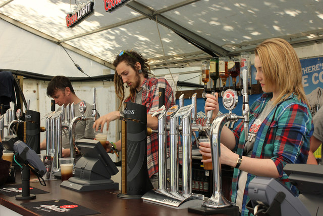Tourist Trophy, inside a beer tent