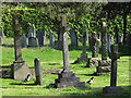 TQ4053 : Magpies in Limpsfield churchyard by Stephen Craven