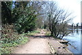 TQ5473 : Darent Valley Path by Brooklands Lake by N Chadwick
