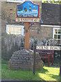 TL3874 : Earith village sign by Bikeboy