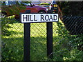 TM4678 : Hill Road sign by Adrian Cable