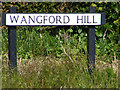 TM4678 : Wangford Hill sign by Adrian Cable
