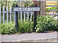 TM4678 : Church Close sign by Adrian Cable