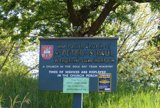 St.Peter & St.Paul Church sign