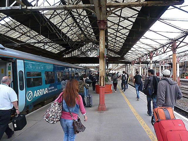Arrival at Crewe